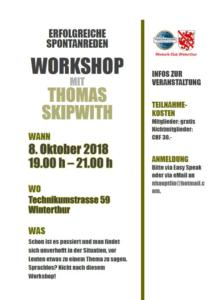 Workshop Thomas Skipwith