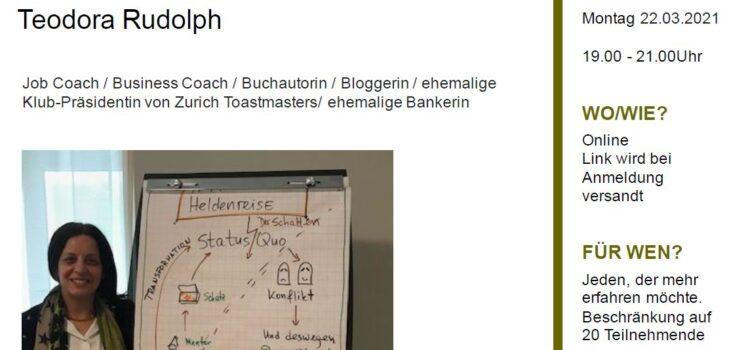 "Workshop ""Storytelling – Die Heldenreise"" am 22. März 2021"